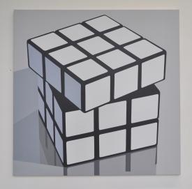 """""""rubik's cube"""" 2014 100 x 100 cm acrylique sur toile 2014"""